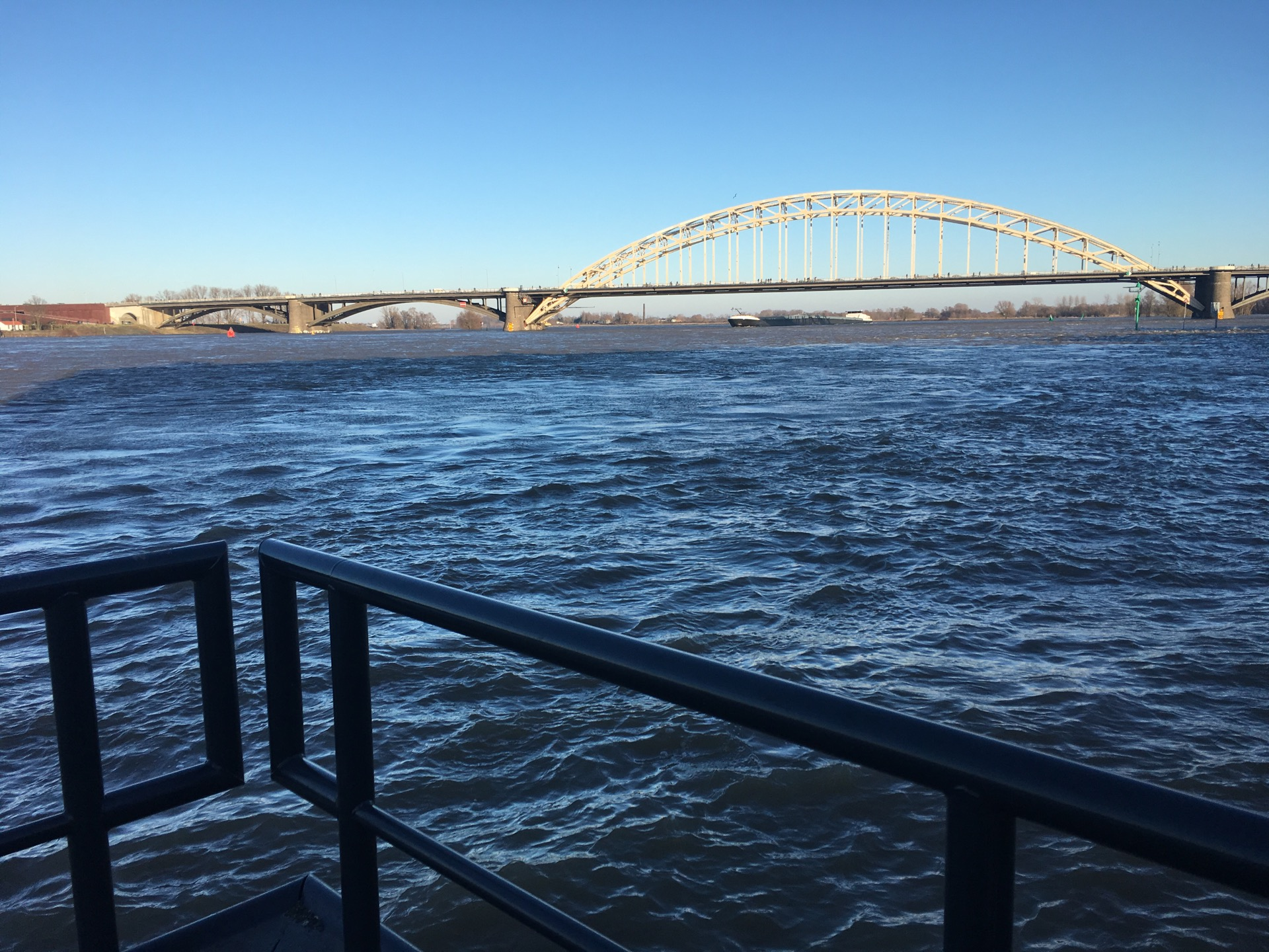 The water is so high... normally it's around +6, but we're at +11,37 meters now.