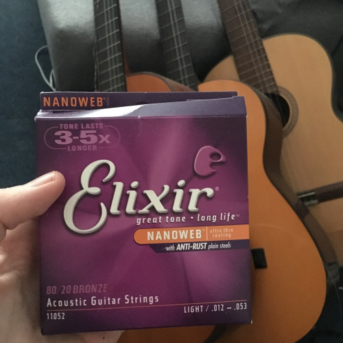 At home for Christmas, I found this package dealing with Elixir strings. #myelixirstatus
